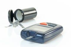 Монитор крови диабета стоковые изображения