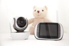 Монитор младенца крупного плана для безопасности младенца Стоковое Изображение RF