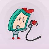 Монитор персонажа из мультфильма с эмоциями не достаточная энергия Стоковое Фото