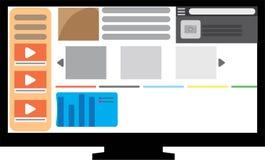 Монитор ПК вебсайта плоский Стоковая Фотография RF