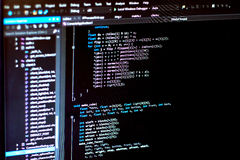 Монитор разработчика ИТ стоковые изображения