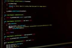 Монитор разработчика ИТ стоковое изображение