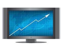 монитор роста диаграммы Стоковая Фотография RF