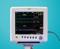 Монитор EKG в блоке ICU стоковые изображения rf