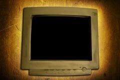 монитор grunge компьютера Стоковая Фотография