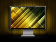 Монитор LCD вектора цифровой Стоковое Изображение RF