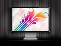 Монитор LCD вектора цифровой Стоковые Изображения