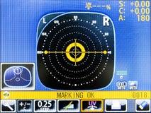 Монитор LCD испытательного оборудования глаза Стоковая Фотография