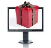монитор lcd подарка рождества Стоковая Фотография RF