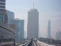Монорельс Дубай стоковые фотографии rf