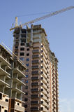 Монолитовая технология кирпичного здания Стоковое Фото