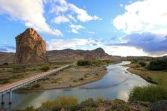 Монолит в долине Chubut, Аргентина Piedra Parada стоковая фотография rf