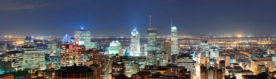 Монреаль на панораме сумрака Стоковая Фотография