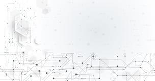 Монтажная плата иллюстрации вектора и предпосылка шестиугольников Стоковая Фотография
