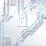 Монтажная плата, предпосылка технологии также вектор иллюстрации притяжки corel Стоковое Изображение
