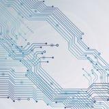 Монтажная плата, предпосылка технологии также вектор иллюстрации притяжки corel Стоковое Изображение RF