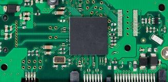 Монтажная плата радиотехнической схемы жесткого диска компьютера Стоковая Фотография