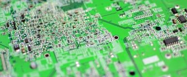 Монтажная плата радиотехнической схемы техника промышленная Стоковые Фотографии RF