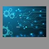 Монтажная плата шестерни абстрактной технологии, предпосылка eps 10 вектора Стоковое Фото