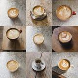 Монтаж изображения кофе стоковое фото
