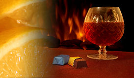 Монтаж рябиновки Fireside Стоковая Фотография