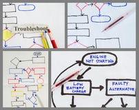 Монтаж схемы технологического процесса стоковое фото