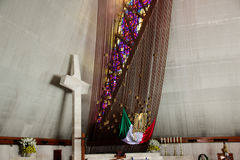 МОНТЕРРЕЙ, NUEVO ЛЕОН/MEICO - 01 02 2017: Базилика de Guadalupe Стоковая Фотография RF