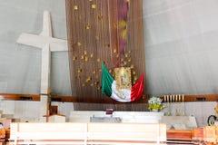МОНТЕРРЕЙ, NUEVO ЛЕОН/MEICO - 01 02 2017: Базилика de Guadalupe стоковое изображение rf