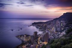 Монте-Карло к ноча Стоковое Изображение RF
