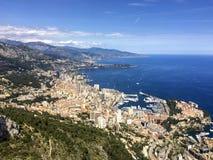 Монте-Карло, Монако, панорама горизонта города Стоковое Изображение