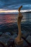 МОНТРЁ, ШВЕЙЦАРИЯ ЕВРОПА - 14-ОЕ СЕНТЯБРЯ: Статуя современного искусства Стоковое Изображение RF