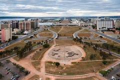 Монументальная ось в Brasilia Бразилии Стоковое Изображение RF