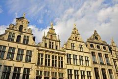 Монументальные фасады дома, Антверпен Стоковое Изображение RF