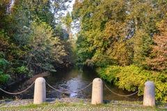 Монца Италия: Река Lambro в парке Стоковая Фотография
