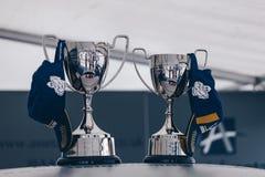 МОНЦА, май 2018 - победитель ИТАЛИИ чашка чашки 2018 Порше Carrera Великобритании стоковые изображения rf
