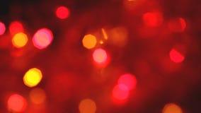 Моргать красочные гирлянды запачкали влияние, полную рамку видеоматериал