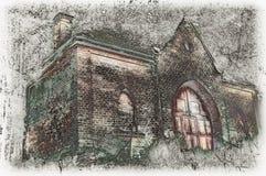 Морг на старом кладбище Стоковое Изображение RF