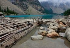 морена озера Стоковая Фотография