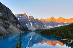 морена озера aplenglow Стоковое фото RF