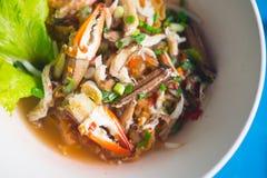 Морепродукты Том лапшей yum с когтем стоковое изображение rf