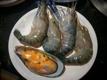 Морепродукты в ресторане шведского стола Таиланда Стоковые Изображения RF