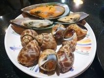 Морепродукты в ресторане шведского стола Таиланда Стоковое фото RF