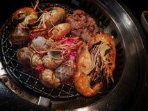 Морепродукты в ресторане шведского стола Таиланда Стоковое Изображение