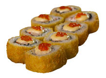 Морепродукты меню еды кренов суш горячие Стоковые Изображения