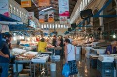 Морепродукты на рынке Афин 1-ого августа, Греция. Стоковые Изображения