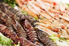 Морепродукты на рынке Стоковое Изображение