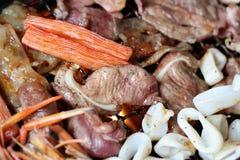 Морепродукты приготовления на гриле Стоковое Фото