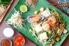 Морепродукты пусковой площадки тайские Стоковые Изображения