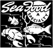 Морепродукты иллюстрация штока