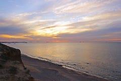 Море ландшафта Израиль Ashkelon Стоковые Фото